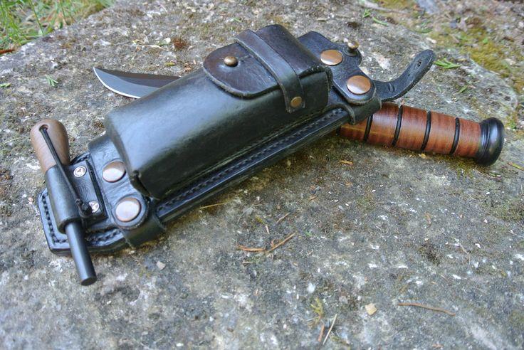 KA-BAR leather sheath black