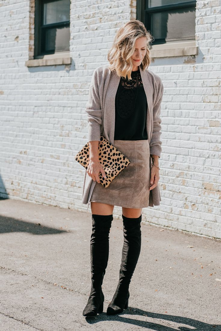 Over-The-Knee Boots Two Ways   my kind of sweet   how to style over the  knee boots   OTK boots   outfit ideas   women s fashion   workwear   casual  style ... 3a513adcff