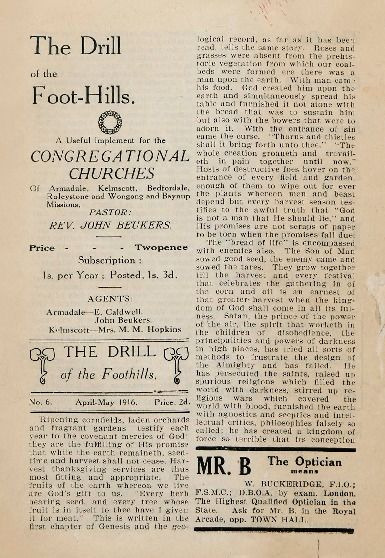 The drill of the foot-hills, 1916. http://encore.slwa.wa.gov.au/iii/encore/record/C__Rb1756512__SThe%20drill%20of%20the%20foot-hills.__Orightresult__U__X6?lang=eng&suite=def