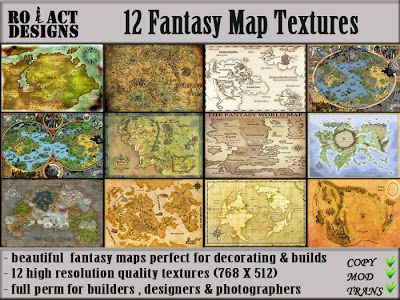 Ro!Act Designs 12 Fantasy Map Textures