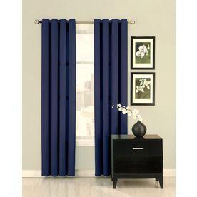 Ultimate Luxury Silk Allure L Solid Indigo Grommet Curtain Panel