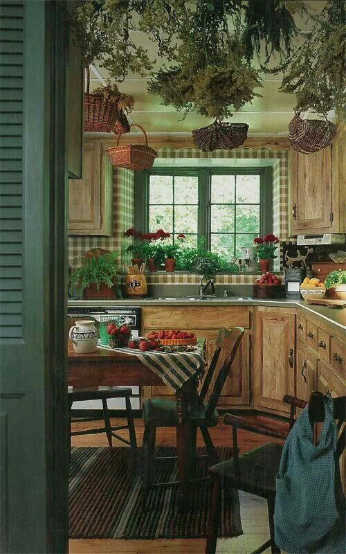 Rustic farmhouse kitchen home pinterest for Country antique kitchen ideas