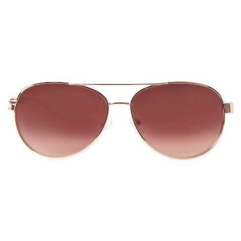 9260e995f1 Women s Aviator Sunglasses- Rose Gold   Target