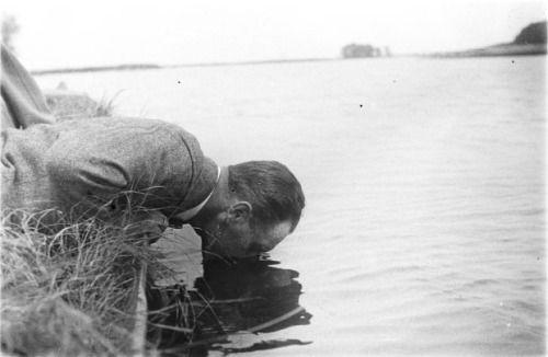 Jakub Chomętowski photographed by Zofia Chomętowska (Lake Cholcza, 1931)