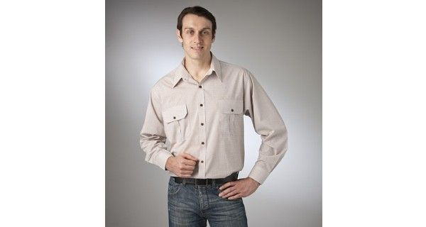 Country Tradition – Style 10518 (Long Sleeve) & Style 10528 (Short Sleeve) are a Check Countryman Shirt made from Cotton Rich fabric in Blue, Fawn and are available in sizes – S – 5XL