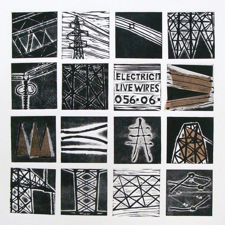 Collagraphy-  Sarah Hokins