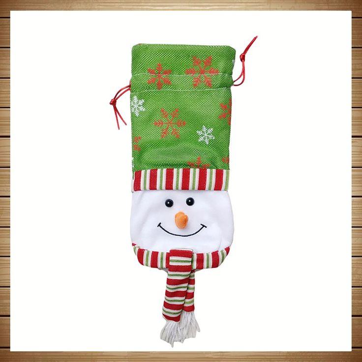 3 шт. Санта Клауса Снеговик Олень 3 Стили Рождество Подарочные Пакеты Красный Бутылка вина Сумки Рождество Обеденный Стол Украшения Партии Красный Подарочные Пакеты купить на AliExpress