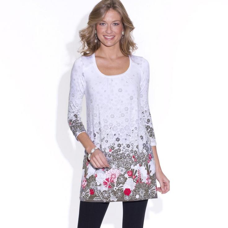 Tunica cu maneci 3/4 marca Anne Weybum - masuri de la 38 la 52. Cititi tot articolul http://thankyou.ws/ce-se-poarta-in-primavara-vara-2013-moda-franceza