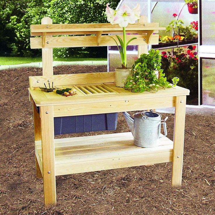 103 best potting bench images on pinterest outdoor for Garden potting bench designs