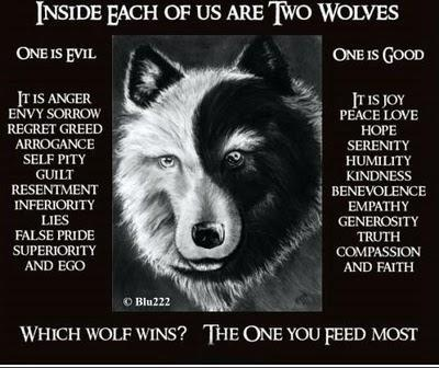 Native American Indian (Inside Each Of Us Are Two Wolves)