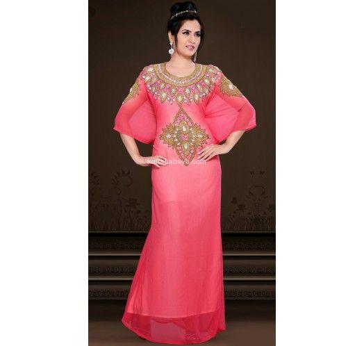 Rose Faux Georgette Fancy #Kaftan