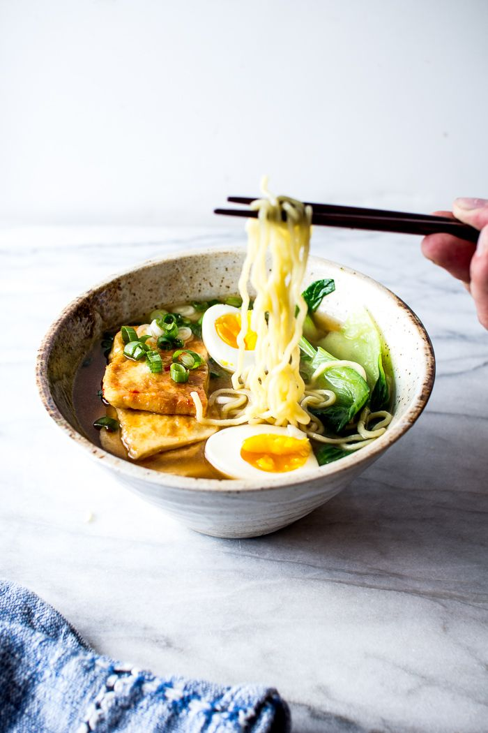 Chili Glazed Tofu with Miso Ramen