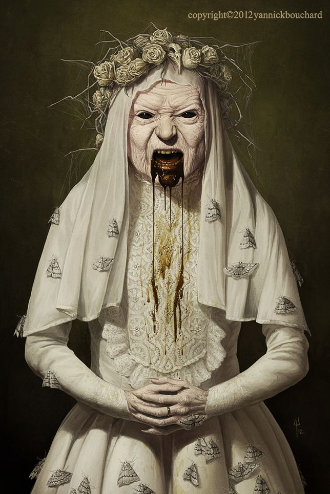 Old Witch by YannickBouchard.deviantart.com on @deviantART... creepy as all hell, but cool.