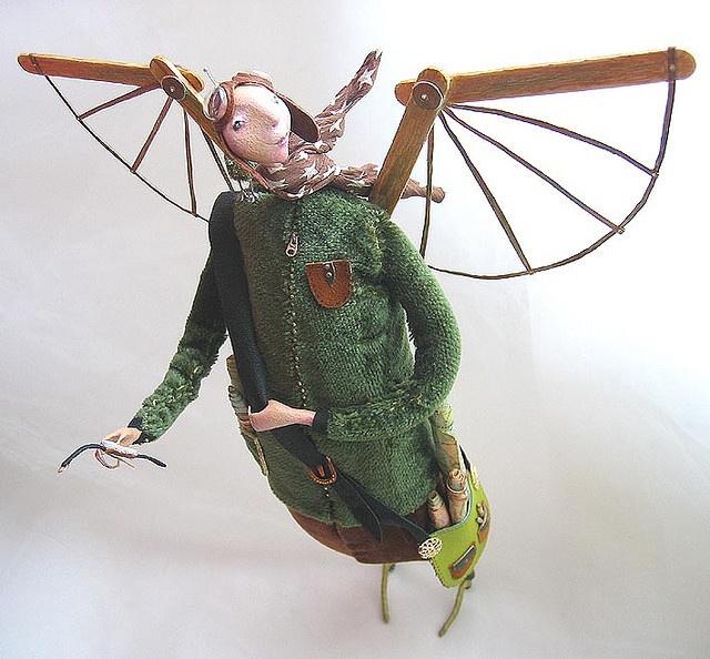 aviator2: Nice Flying, Flying Men, Art Dolls Lik, Bajenkovaалиса Баженкова, Алисабаженкова Alisabajenkova, Bajenkova Алиса Баженкова, Art Dolls Ii, Flying Dolls, Crafts Sticks