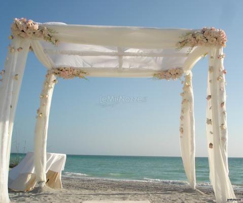 Houppa per il #matrimonio in una #spiaggia da sogno ...