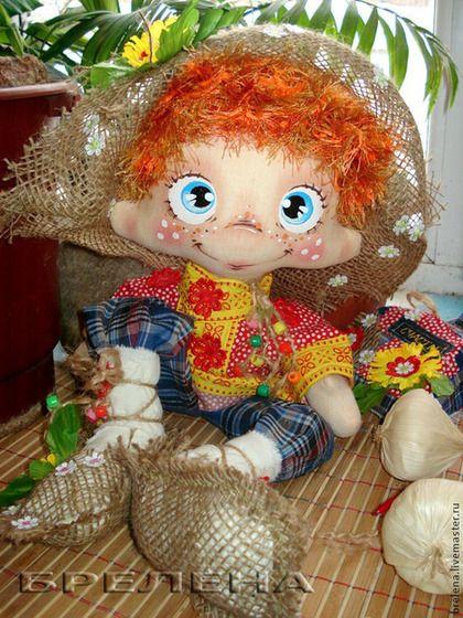 Текстильная кукла Домовой Надёжа. - рыжий,интерьерная кукла,текстильная кукла