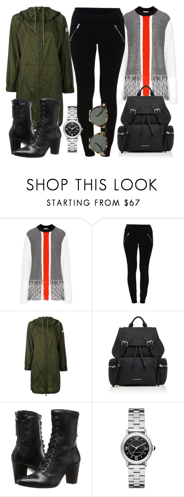 """""""Sem título #4902"""" by beatrizvilar ❤ liked on Polyvore featuring Opening Ceremony, Vila Milano, Moncler, Burberry, Johnston & Murphy, Marc Jacobs and Karen Walker"""