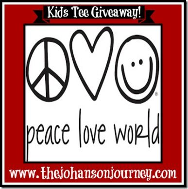 The Johanson Journey Peace Love World Giveaway!! Come enter to win! @Peace Love World
