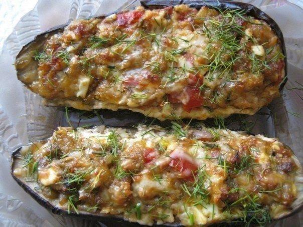 The eggplants stuffed in Catalan.