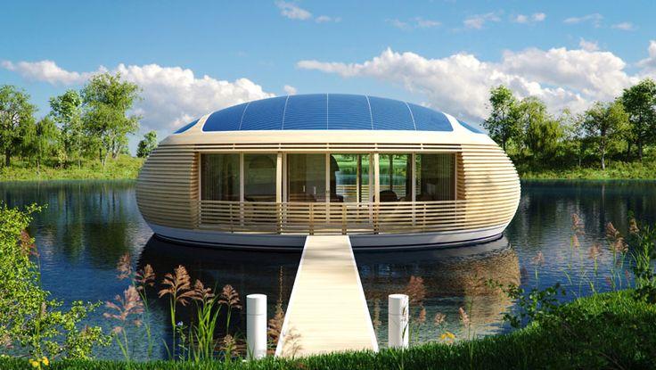 Vivir en una casa flotante.