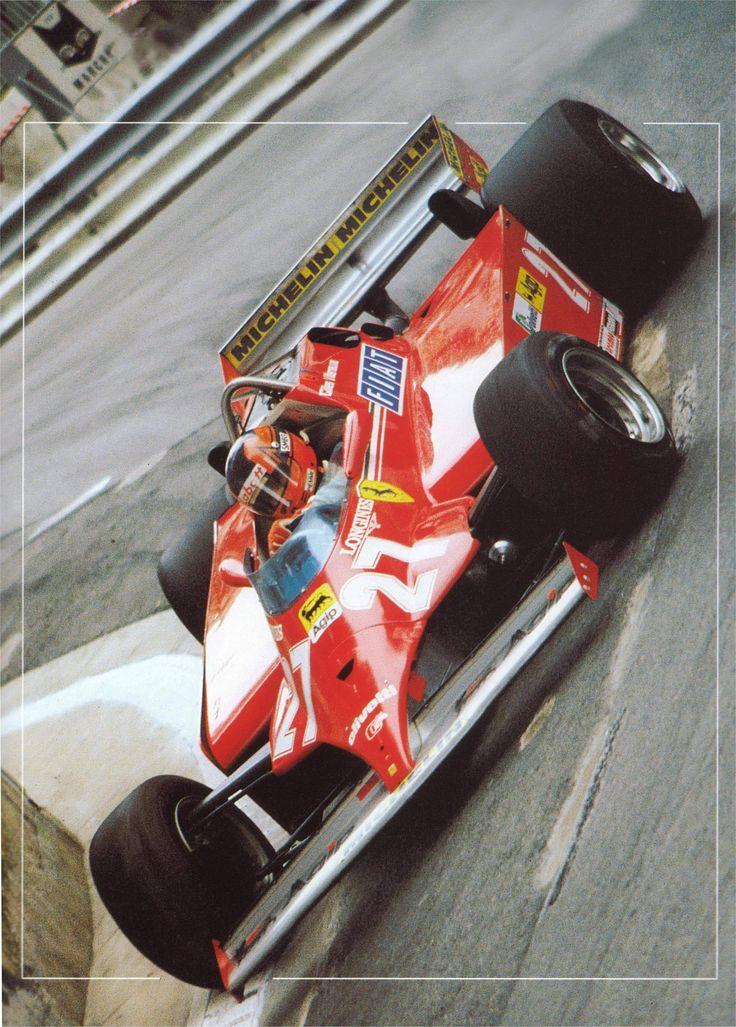 Gilles Villenueve Ferrari 126 CK Winner 1981 Monaco GP