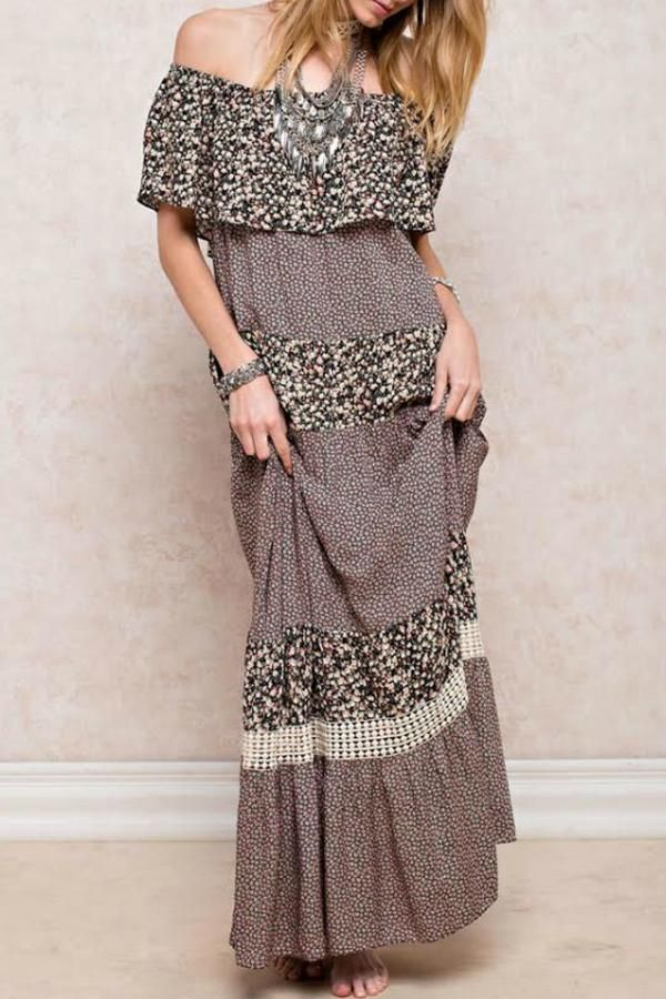 easel Pixie Peasant Dress