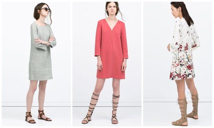 Прямое платье + греческие сандалии