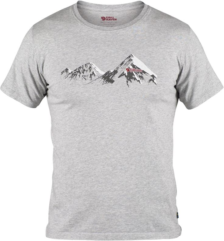 - Comfortable t-shirt in 100% organic cotton. - Mountain silhouette printed on chest.
