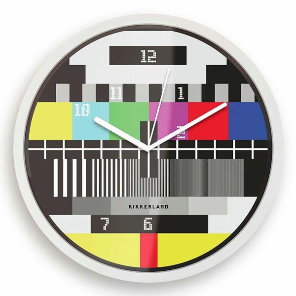 Reloj de pared Carta de Ajuste TV / Test Screen TV Wall Clock · Tienda de Decoración y Regalos originales UniversOriginal