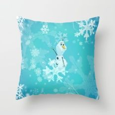 olaf in the snow Throw Pillow
