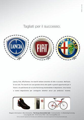 Annuncio di lancio della divisione Licensing del gruppo FIAT.