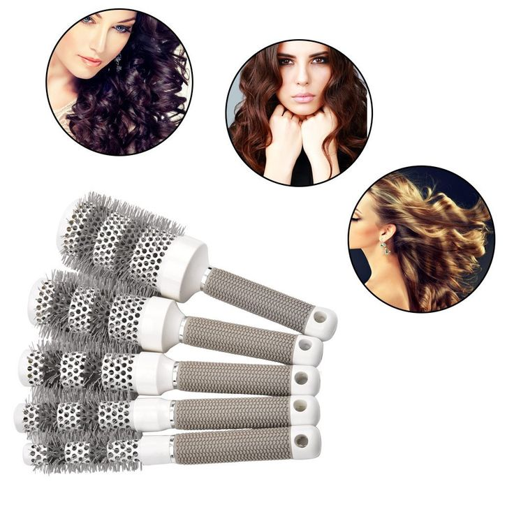 inkint 5 Different Sizes Ceramic Hair Styling Brush Kits Hair Dressing Round Styler comb Perfect Styling Accessory for Using Hair Dryer >>> Click on the image for additional details.
