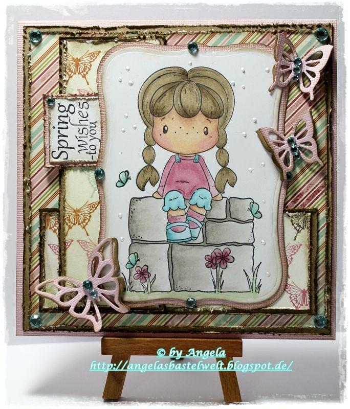 ♥ ♥ Schmetterlinge und/oder Libellen bei der Stempelgarten Challenge ♥ ♥