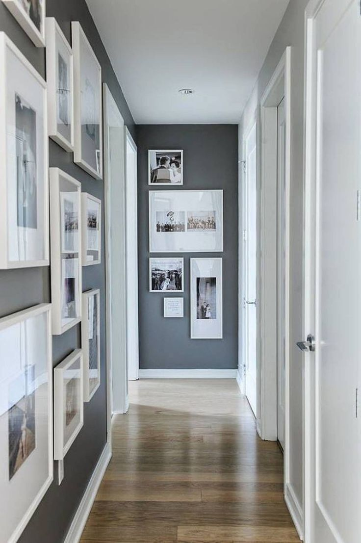 White Framed Wall Photos Small Hallway Decor : Small Hallway Decor With Photos , Home Design and Decor