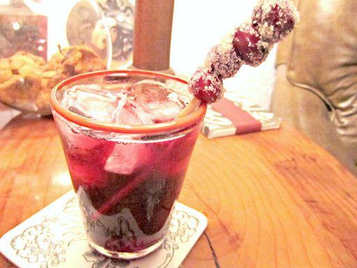 Cranberry Red Wine Spritzers!