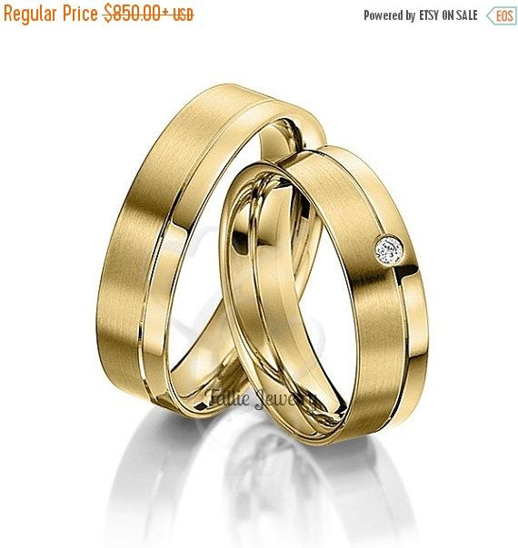 10K SOLID YELLOW GOLD HIS & HERS DIAMOND WEDDING BANDS Width : 6mm/6mm Finish : Satin & Shiny Finish Fit : Comfort Fit Size: 4-12 The Price Shown is for Both Rings All His and Hers Sets are available individually. Also Available in White, Yellow or Rose Gold and 10K -14K - 18K - Platinum Please let us know your exact size after ordering. All rings are available in full, half or quarter sizes. Please Contact Us for Larger Sizes AT TALLIE JEWELRY, WE OFFER: -A WIDE SELECT...