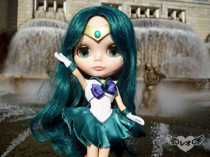 Deep Submerge!!  As a celebration of the new SailorMoon series, Sailor Moon Crystal, Oriana cosplayed as Sailor Neptune. Costume by Leo COUTURE