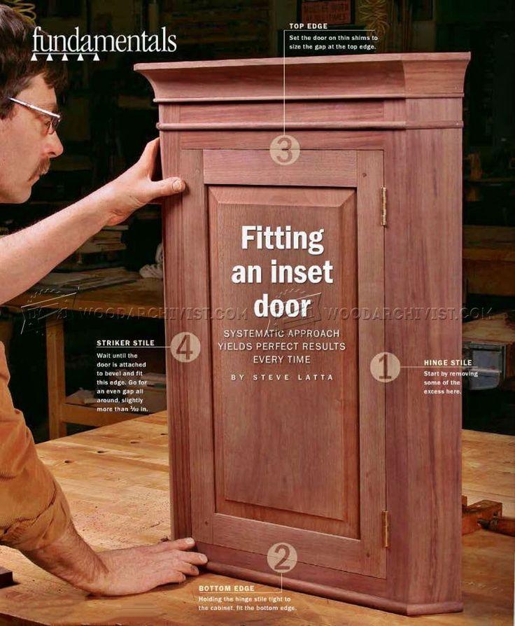 836 fitting an inset door - cabinet door construction