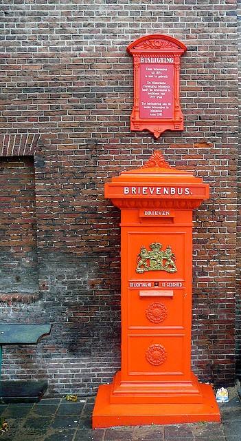 Old Dutch Mailbox - Staande Brievenbus 1870 Maassluis Raadhuis The Netherlands -