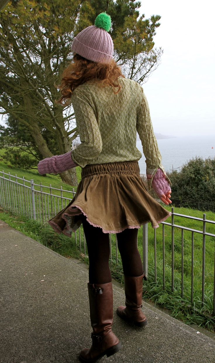 #benetton #riding boots #givenchy tights #pink beanie #armwarmers #floral shirt #velvet skirt
