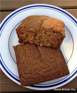 Gluten and Nut Free Applesauce Bread - Very good flavor, super moist, and more like a cake than a bread.  Baked in mini-bread pan, but not time will probably bake in an 8x8 pan.  Might try it with some diced apple too.