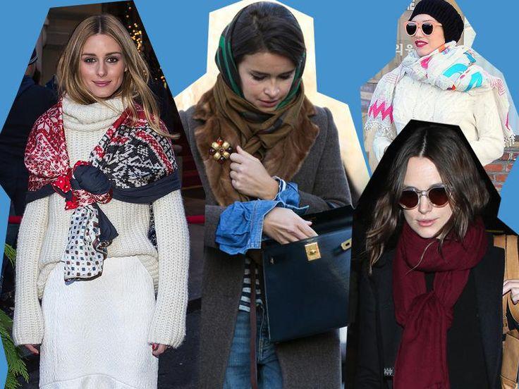 """Dal nodo classico alla versione """"contadina russa"""", ecco le varianti creative per indossare la vostra #sciarpa"""