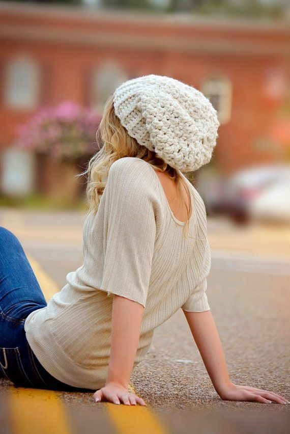 Womens Winter Hat   Oversized Slouchy Beanie Hat   Chunky  3194fcba347