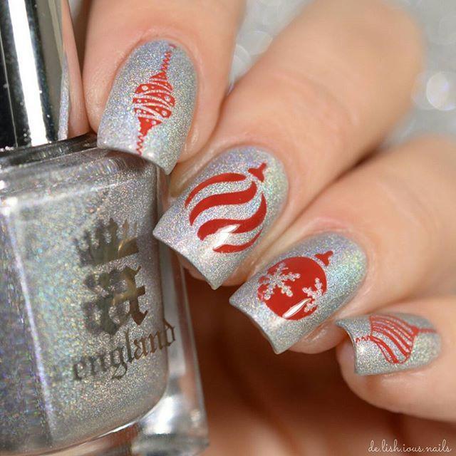 47 best christmas ornament nail art designs images on pinterest christmas ornaments nail art stamping design prinsesfo Gallery