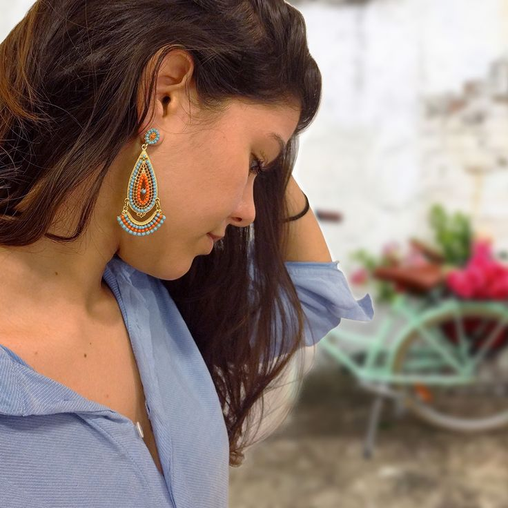 Spice up your style with elegant ethnic earrings! #earrings #elegant #accessories #greece #achilleas_accessories