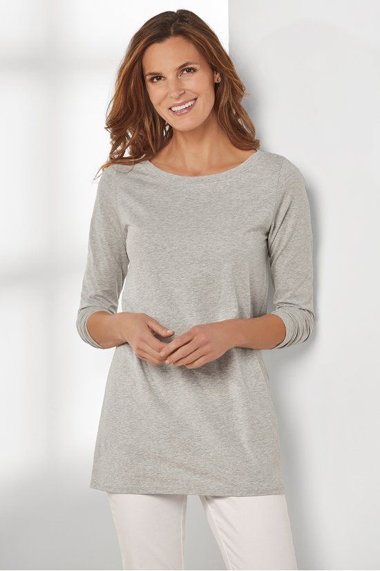 f9ee9d03128 Tiffany Long Sleeve Boatneck Tee - Pima Cotton Boatneck Tee | Soft  Surroundings
