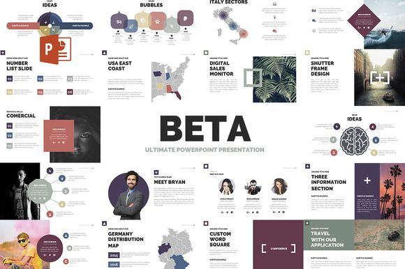 Beta | Powerpoint template by Zacomic Studios on @creativemarket
