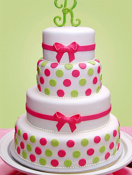 Bright Green & Pink Polka Dots Bizcochos Pinterest ...