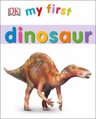 My First Dinosaur by Louise Tucker.  Illustrations show the physical characteristics of dinosaurs, identifying the different types, from Tyrannosaurus rex and eoraptor to suchomimus and caudipteryx. #book #toddlers #infants #boardbook #literacy