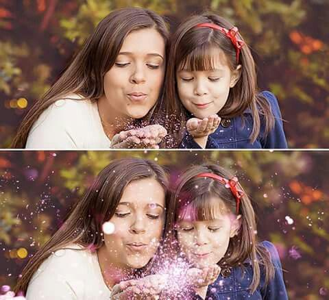 Glitter Overlays! Carefully selected HD images at different focal depths that you can combine to create realistic Glitter Effects.   Check out this awesome before and after example!  https://www.etsy.com/listing/280789636/glitter-overlays-blowing-glitter  #glitter #motheranddaughter #blowingglitter #glitterblown #photoshop #photoedit #digitaledit